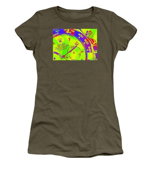 Abstract Rolex Digital Paint 12 Women's T-Shirt