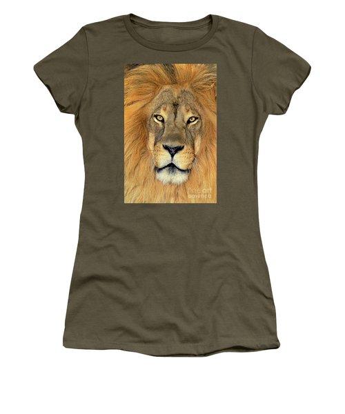 African Lion Portrait Wildlife Rescue Women's T-Shirt