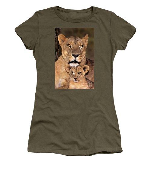 African Lions Parenthood Wildlife Rescue Women's T-Shirt
