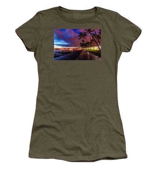 After Sunset At Kona Inn Women's T-Shirt