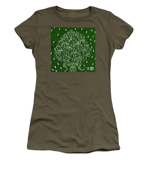 Women's T-Shirt featuring the painting Alien Bloom 15 by Amy E Fraser