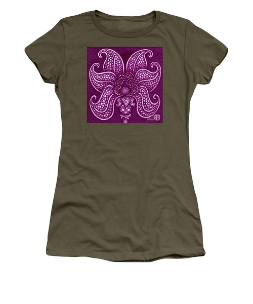 Women's T-Shirt featuring the painting Alien Bloom 20 by Amy E Fraser