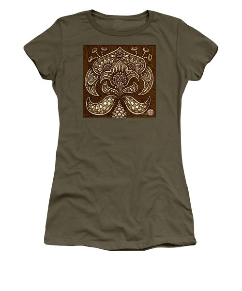 Women's T-Shirt featuring the painting Alien Bloom 26 by Amy E Fraser