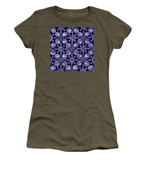 Women's T-Shirt featuring the painting Alien Bloom 9 by Amy E Fraser