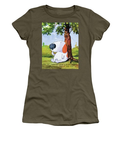 Alone With His Thoughts Women's T-Shirt
