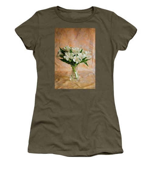 Alstroemeria Bouquet On Canvas Women's T-Shirt