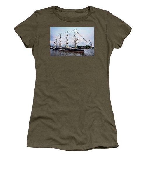 An Exit Sailboat Krusenstern On Parade Women's T-Shirt