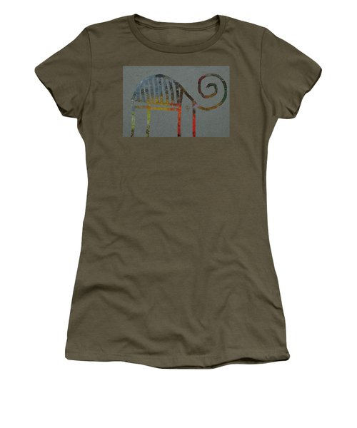 Women's T-Shirt featuring the digital art Animal by Attila Meszlenyi