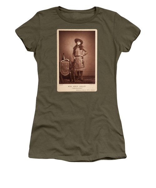 Annie-oakley-woodburytype-cabinet-card-c1890s Women's T-Shirt