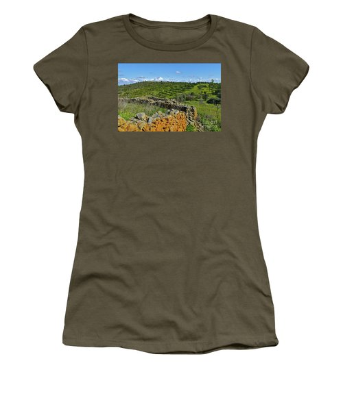 Antique Stone Wall Of An Old Farm Women's T-Shirt