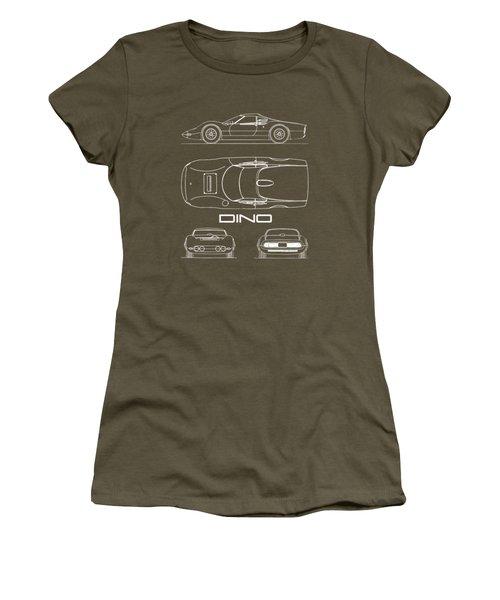 Blueprint Ferrari Dino 1965 Women's T-Shirt