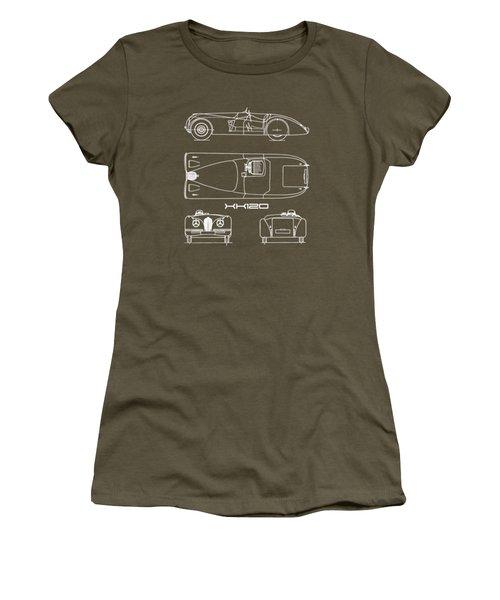 Jaguar Xk 120 Blueprint Women's T-Shirt