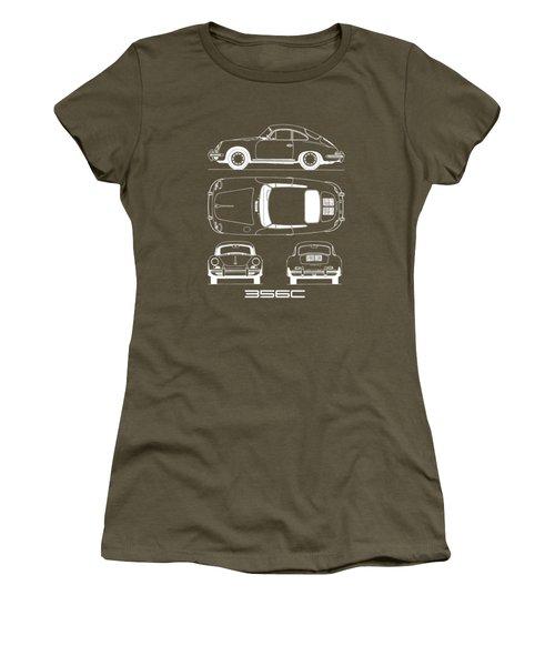 Porsche 356 C Blueprint Women's T-Shirt