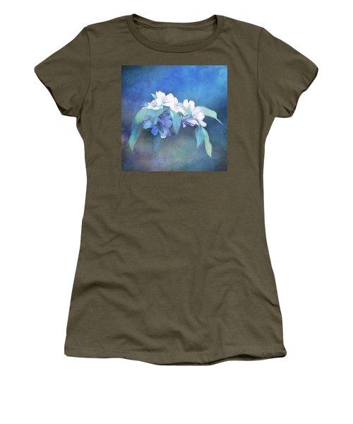 Painted Crabapple Blossoms Women's T-Shirt