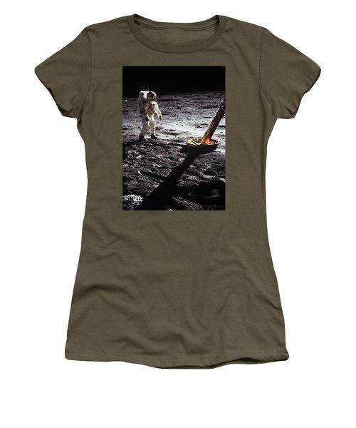 Astronaut On Lunar Surface Women's T-Shirt