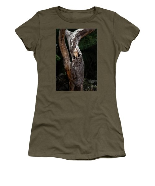 Women's T-Shirt featuring the photograph Australian Masked Owl by Rob D Imagery