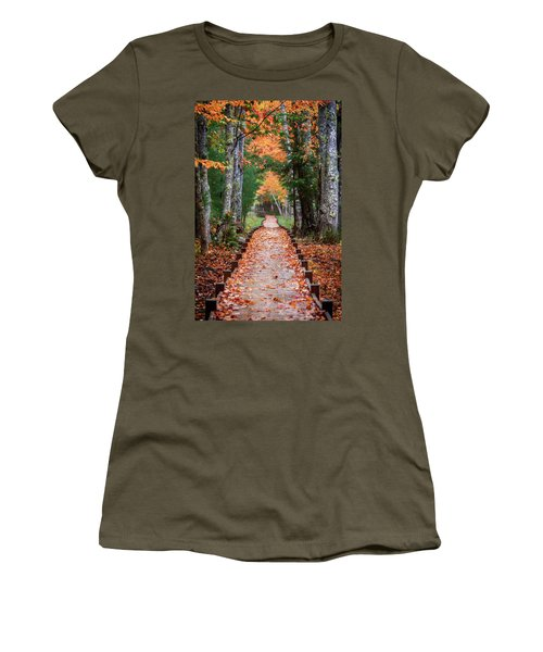 Autumn At Jesup Path Women's T-Shirt