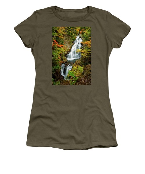 Women's T-Shirt featuring the photograph Autumn Falls, Crystal Cascade by Jeff Sinon
