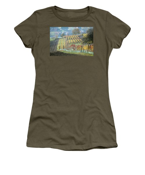 Women's T-Shirt (Athletic Fit) featuring the photograph Autumn In Moravia 7 by Dubi Roman