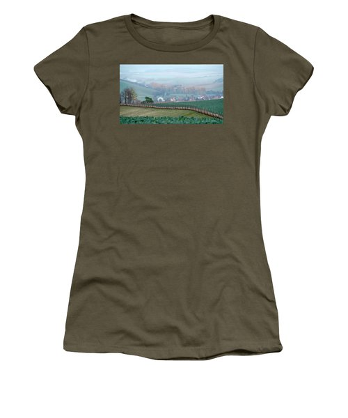 Women's T-Shirt featuring the photograph Autumn South In Moravia 6 by Dubi Roman