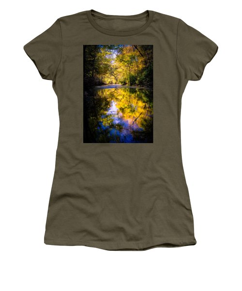 Women's T-Shirt featuring the photograph Autumn Reflections by Allin Sorenson
