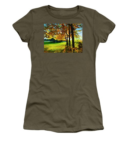 Sunset Over The Park Women's T-Shirt