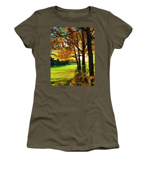 Sunset Over The Park Women's T-Shirt