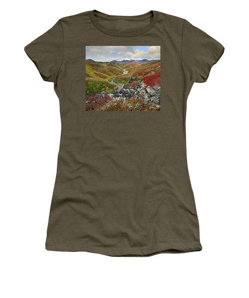 Autumn Tundra, Ogilvie Mts, Tombstone Women's T-Shirt