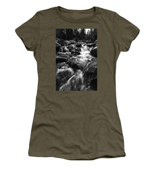 Women's T-Shirt featuring the photograph Baerguntbach, Kleinwalserta by Andreas Levi