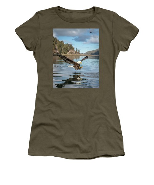 Bald Eagle Fishing In Sadie Cove Women's T-Shirt