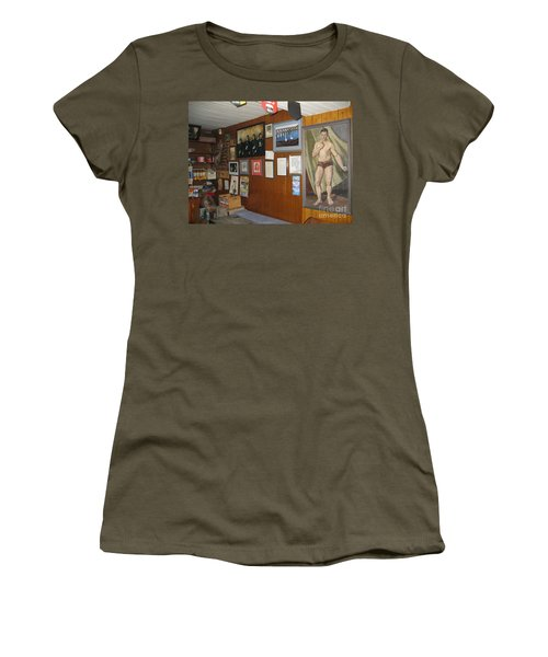 Women's T-Shirt featuring the painting Ballydehob Recolections by Val Byrne