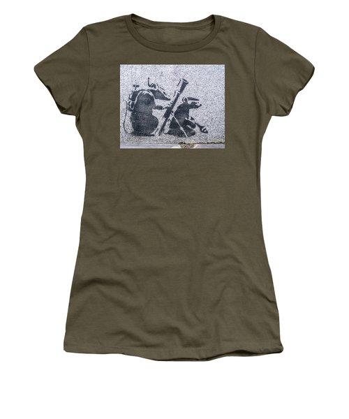Banksy Bazooka Rats Women's T-Shirt