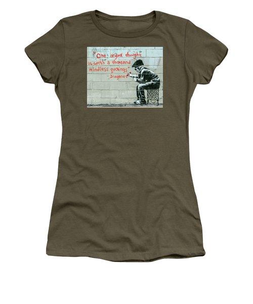 Banksy Diogenes Women's T-Shirt