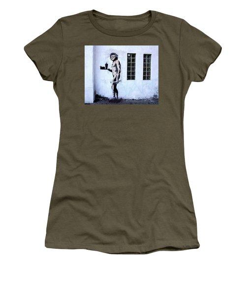 Bansky Fast Food Caveman Los Angeles Women's T-Shirt