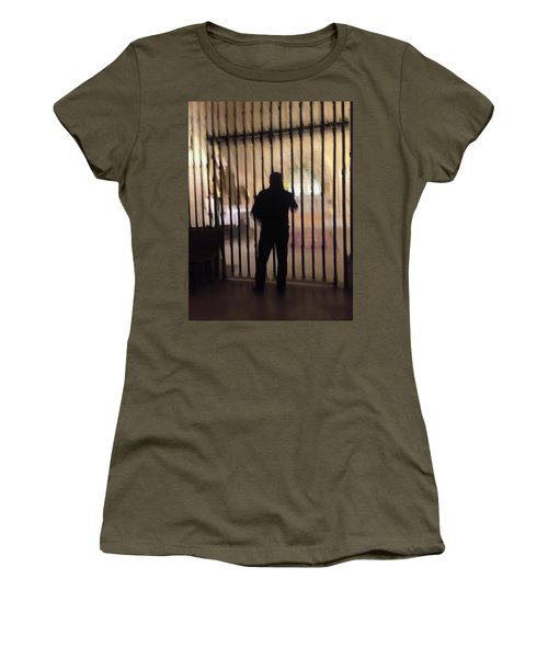 Women's T-Shirt featuring the photograph Barred From Heaven by Alex Lapidus