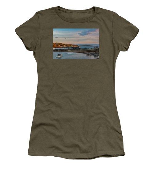 Bass Harbor Sunset Women's T-Shirt