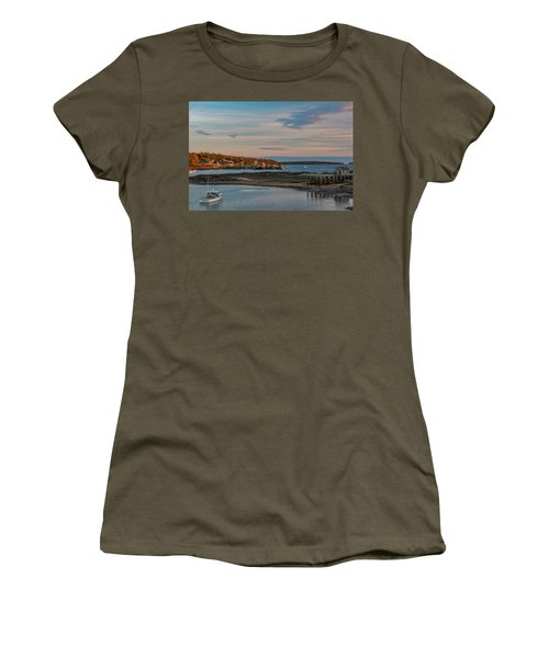 Bass Harbor Sunset Women's T-Shirt