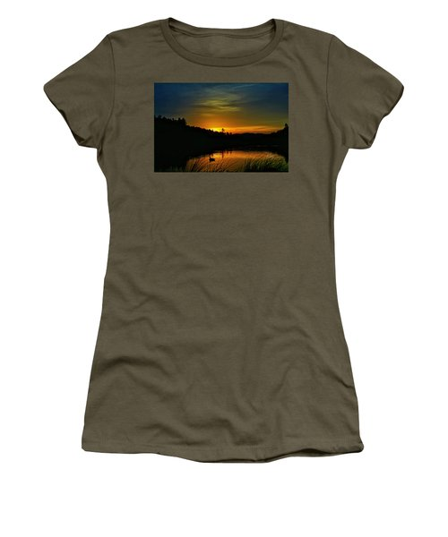Bass Lake Sunrise Duck Women's T-Shirt