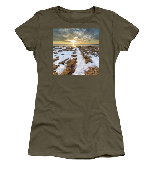 Beach In Frankfort Square Women's T-Shirt