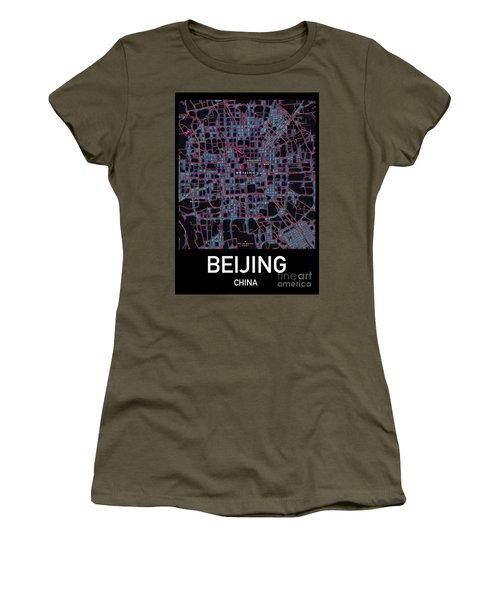 Beijing City Map Women's T-Shirt