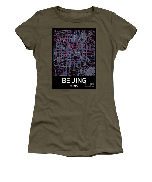 Beijing City Map Women's T-Shirt