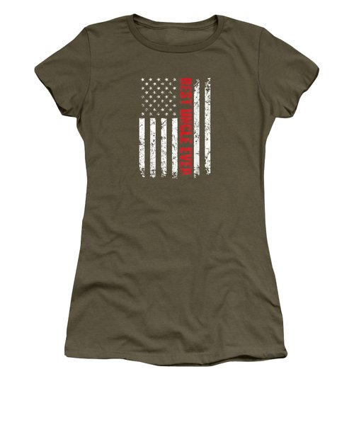 Best Uncle Ever American Flag Tshirt Gift For Uncle Women's T-Shirt