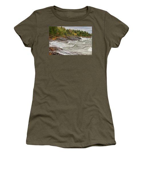 Big Waves In Autumn Women's T-Shirt