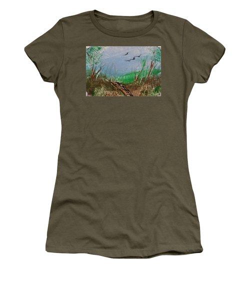 Birds Over Grassland Women's T-Shirt