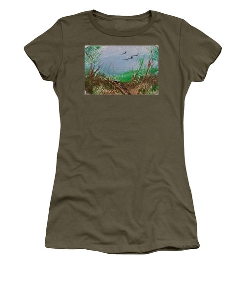 Birds Over Grassland Women's T-Shirt