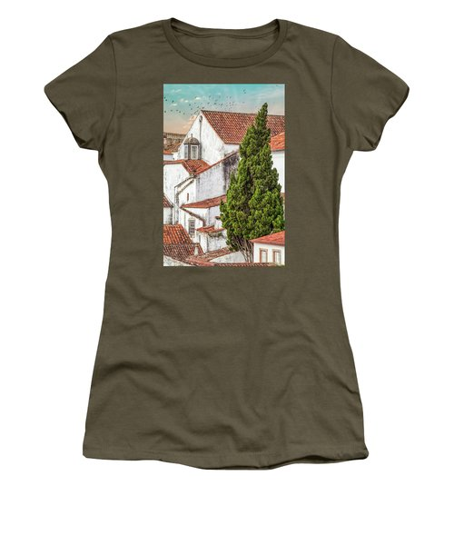 Birds Over Obidos Women's T-Shirt