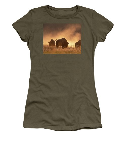 Bison In The Dust Women's T-Shirt