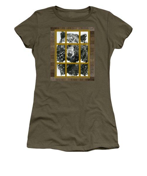 Black Bear, Outside My Window Women's T-Shirt