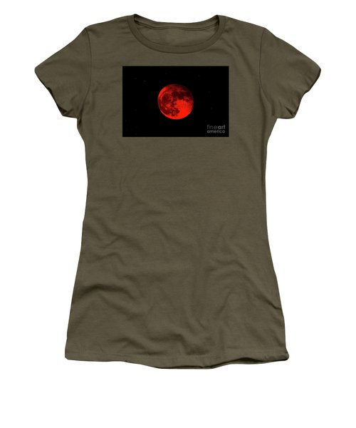 Blood Red Wolf Supermoon Eclipse 873a Women's T-Shirt