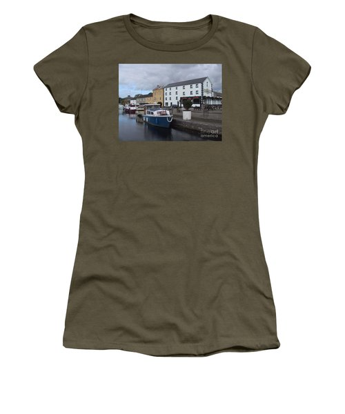 Women's T-Shirt featuring the painting Richmond Harbour  In Cloondara, Co Longford by Val Byrne
